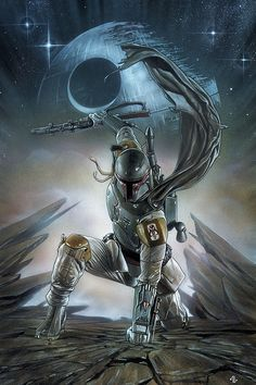 "starwarsgalaxys:  Boba Fett Star Wars <a class=""pintag searchlink"" data-query=""%2301"" data-type=""hashtag"" href=""/search/?q=%2301&rs=hashtag"" rel=""nofollow"" title=""#01 search Pinterest"">#01</a> Forbidden Planet Variant Cover by Adi Granov"
