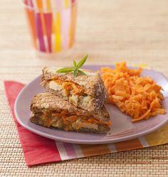 Croque-monsieur aux carottes et poulet au curry - Recettes de cuisine Ôdélices
