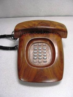 Old GE Electric Wood Telephone