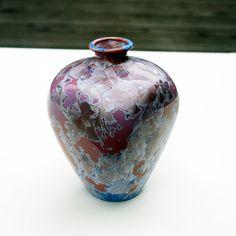 Hand Made Porcelain Vase  Free Shipping by CrystallineGlaze, $110.00