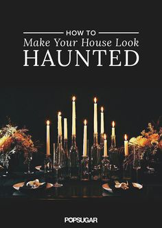 11 Ways to Make Your House Look Haunted Whether you're throwing a Halloween party, or you're in the mood to incorporate some spooky decor into your home, we've got 11 eerie ways to make your house look like the chicest ghost hangout around. Soirée Halloween, Adornos Halloween, Hallowen Costume, Halloween Projects, Holidays Halloween, Halloween Snacks, Vintage Halloween, Terrifying Halloween, Halloween Themes