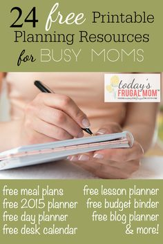 Come check out these 24 amazing and FREE printable planners for the busy mom! :: TodaysFrugalMom.com