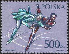 Znaczek: Figure skating (Polska) (Sport) Mi:PL 3261,Sn:PL 2962,Yt:PL 3067,Pol:PL 3114