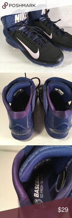 720595344e9 Mens NIKE HAURACHE Baseball Cleats Size 12.5 You are purchasing a pair of  men s Nike baseball