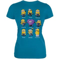 Juniors Despicable Me Minion Talk Juniors Slim TShirt Size M ** More info could be found at the image url.Note:It is affiliate link to Amazon.