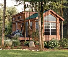 800 square foot log cabin outside