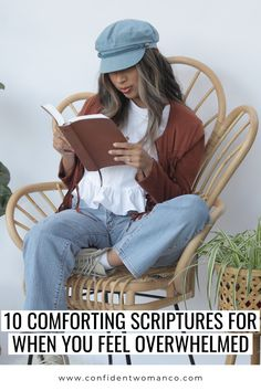 If you are feeling overwhelmed the good news is that we don't have to carry this heavy burden alone, we have a God that will carry it with us. The bible is filled with scriptures that tell us to rely on God for our strength. If you are feeling overwhelmed that may be a good indicator that you need to pause, read God's word, and rest in Him.   Christian Woman Blogs  Confident Woman Co. Christian Women Blogs, Christian Resources, Comforting Scripture, Confident Woman, Godly Woman, Spiritual Life, S Word, Feeling Overwhelmed, Christian Inspiration