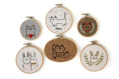 such cute embroidery ideas!