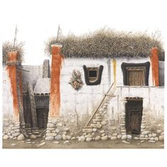 Robert Powell, Houses in Lo Manthang, Mustang, Nepal Tibet, Mustang Nepal, Samar, Scene, Paintings, Explore, Inspiration, Deco, Architecture