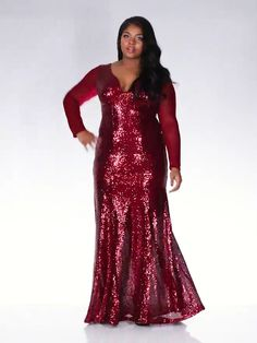 Buy Curve Wine Sequin V Neck Maxi Dress online now from Quiz. Curvy Women Fashion, Plus Size Fashion, Women's Fashion, Dresses To Wear To A Wedding, African Fashion Dresses, Big And Beautiful, Black Diamond, Sexy Dresses, Cloths