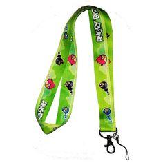 Angry Birds Lanyard Keychain Badge Holder Green | Balli Gifts