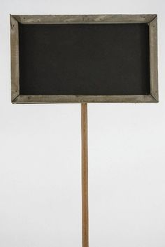 4.99 SALE PRICE! Direct your guests with this woodframed chalkboard on a stake. The distressed wood chalkboard is great for weddings and can be used for tabl...