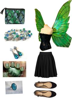 """""""Im a Green fairy"""" by ppanther ❤ liked on Polyvore"""