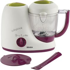 Beaba Babycook Baby Food Maker - - Product Description: The Beaba Babycook is a one-of-a-kind, patented compact countertop appliance that functions as a steamer, blender, warmer and defroster Best Baby Food Maker, Baby Food Makers, Making Baby Food, Baby Food Mill, Done By Deer, Baby Cooking, Food Mills, Blender Recipes, Blenders