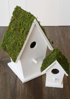 A Diamond in the Stuff: Moss Birdhouses