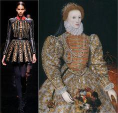 Balmain AW14 and Elizabeth I