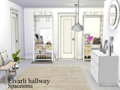 Sims 4 CC's - The Best: Elvarli hallway by Spacesims