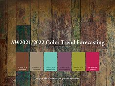 Trend forecasting on Behance Paint Your House, Graphic Design Trends, Design Design, Fashion Forecasting, Colour Pallette, Winter Trends, Color Of The Year, Color Trends, Color Inspiration