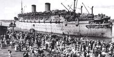 PEARL HARBOR – December 7th 1941… Matson Line's SS LURLINE…Cruise History and Liner History: The SS Lurline was half way from Honolulu to San Francisco on 7 December 1941, when the Japanese bombed Pearl Harbor.