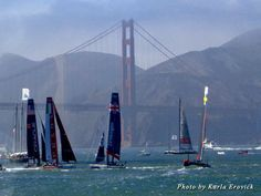 Sailboats race in SF Bay in a preview of the America's Cup with fastest boats and best sailors @americascup @Jetset Extra