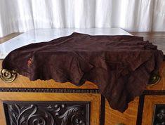Chocolate Mocha Brown Suede Split Leather Hide Garment Grade
