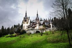 Peles Castle is straight out of a fairytale. A stark contrast to Bran (Dracula's) Castle. Beautiful World, Beautiful Images, Peles Castle, Travel Channel, Romania, Barcelona Cathedral, Travel Destinations, Explore, Places