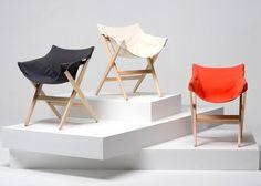 British designer Jasper Morrison has presented a chair inspired by camping furniture for Italian brand Mattiazzi