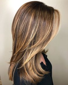 Brown Straight Hair, Long Brown Hair, Light Brown Hair, Straight Hair With Highlights, Balayage On Straight Hair, Light Caramel Hair, Natural Looking Highlights, Hair Color Caramel, Thin Hair