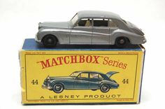 No.44 Rare Silver Rolls Royce Phantom V & Original Box by Matchbox Lesney England 60's toy Car Great Gift Idea Stocking Stuffer for him by RememberWhenToys on Etsy