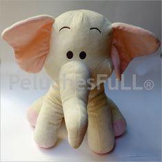 CÓDIGO: YNTC7481 Elefante rosa y beige con carita borda