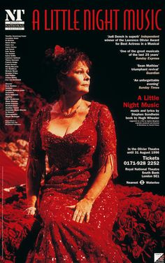 """The National Theatre's """"A Little Night Music """"with Dame Judi Dench"""