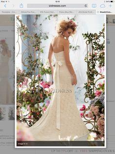 Rear lace wedding dress