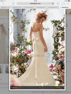 Rear lace wedding dress