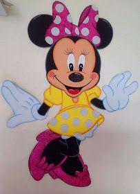 Patrones GratisS: Moldes Gratis de Minnie Mouse con vestido amarillo