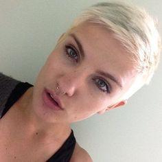 Blonde short pixie