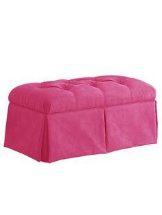 Velvet Skirted Storage Bench by Skyline Furniture on Gilt.com