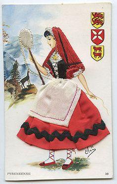 Pyrenees-Embroidered-silk-fabrics-France-ethnic-dress-1960s-postcard-gf20