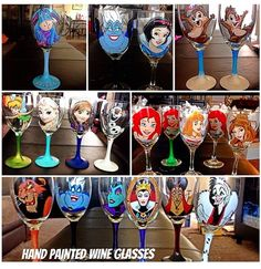 Hand painted wine glasses!!! Cute!!!