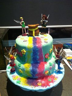 Aleah's cake inspiration from pinteresest tinker bell Pirate party