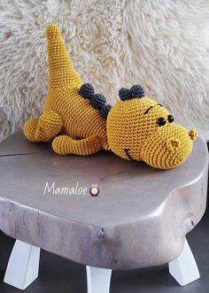 Amigurumi Free Pattern This Pin was discovered by Lilia – Amigurumi Crochet Dinosaur Hat, Crochet Dinosaur Patterns, Crochet Dragon, Crochet Amigurumi Free Patterns, Crochet Dolls, Cute Crochet, Crochet Crafts, Crochet Projects, Stuffed Animal Patterns