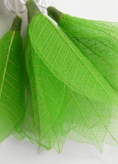 Green Flower Leaf String Lights 20 lights 8 Feet