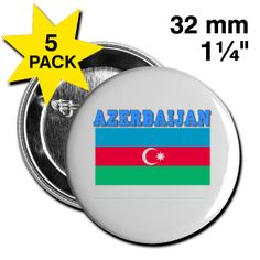This AzerbaijanFlag Button 5-Pack is available at PersonalizedSouvenirs.com.