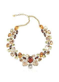 AZ Collection Multicolor Crystal Necklace