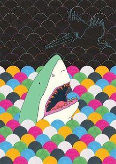 shark art--love this!