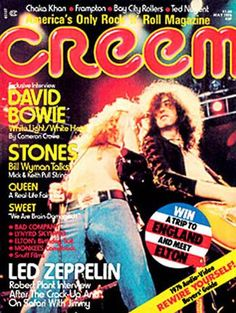 "CREEM Magazine  cover Led Zeppelin. Best music magazine from ""the day""!"