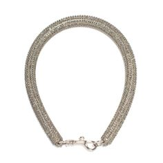 Christopher Kane Slim Bolster Necklace in Black Diamond