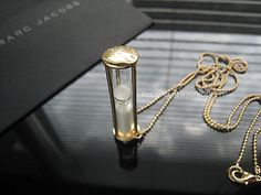 NEW Authentic MARC JACOBS Gold Hourglass Sandglass Time Funnel Necklace | eBay