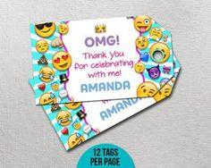 OMG Emoji Thank You Tag