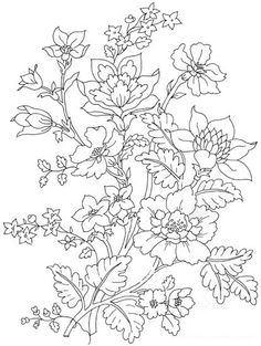 The Latest Trend in Embroidery – Embroidery on Paper - Embroidery Patterns Flower Coloring Pages, Colouring Pages, Adult Coloring Pages, Coloring Books, Embroidery Designs, Paper Embroidery, Hand Embroidery Patterns, Fabric Painting, Flower Patterns