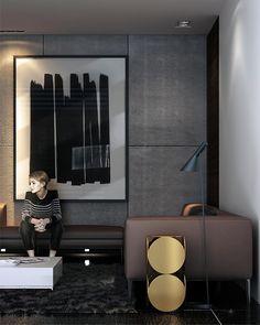 Master Bedroom suite interior by Karim Emam, via Behance